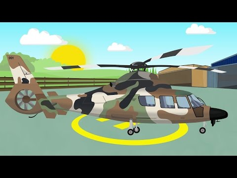 Military Helicopter | Animation for children | Helikopter Wojskowy | Bajki Konstrukcje i inne