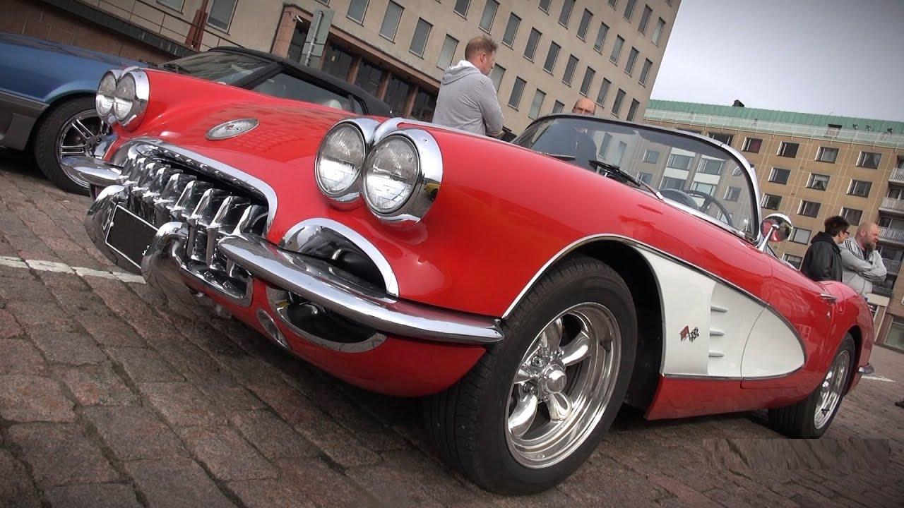 Chevrolet Corvette C1 Roadster - startup, V8 sound ...