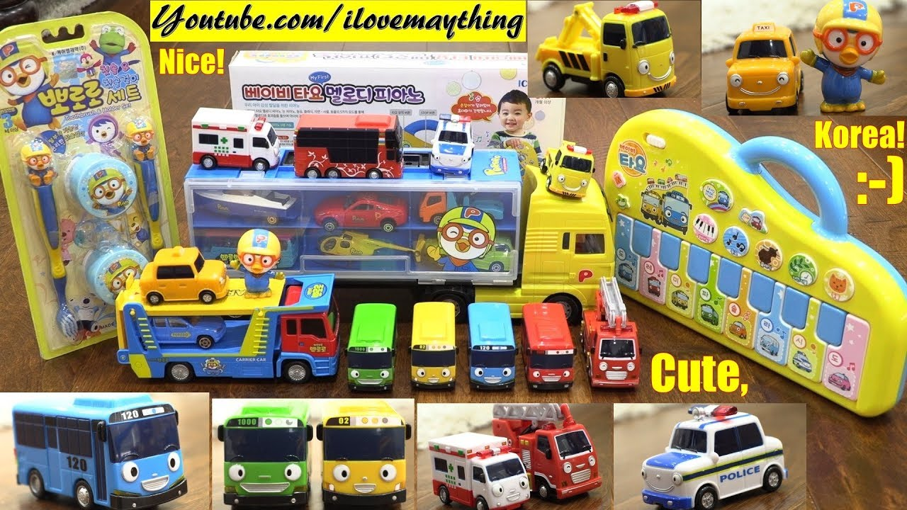 Tayo The Little Bus And Pororo Toys Korean Cartoons And Toys Kids