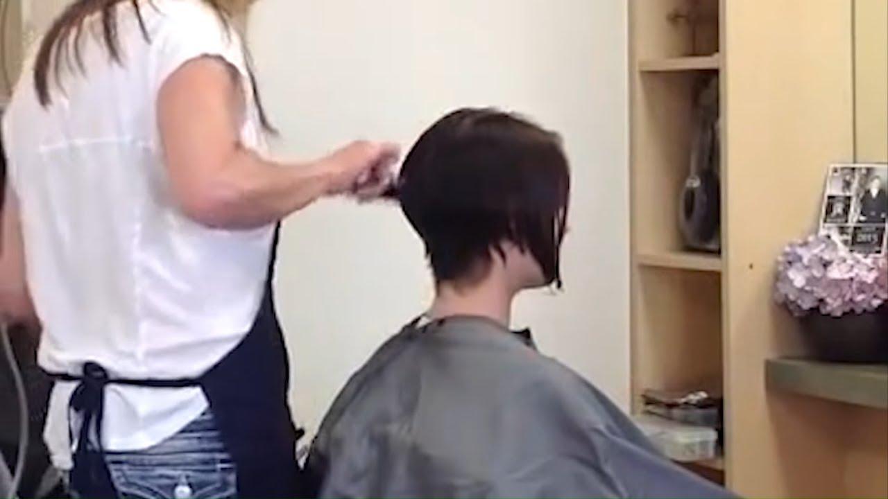 Line Bob Haircut Short Nape