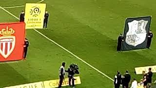 Entrée des joueurs lors de Amiens Monaco