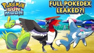 Pokémon Sun & Moon - Full PokéDex Leaked?! (Speculation & Discussion) - Debunked