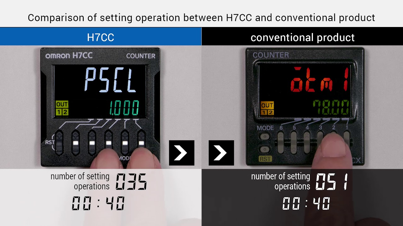 OMRON H7CC Comparison of Operation with Conventional Products