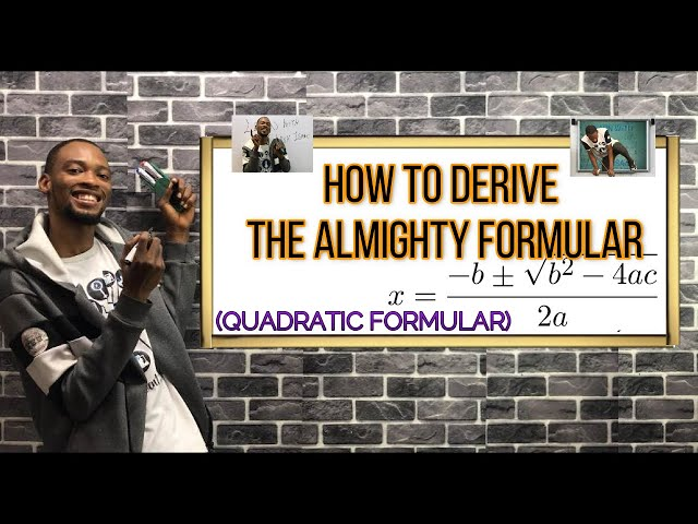 How to Derive The Almighty Formular | Quadratic
