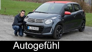 Citroen C1 Airscape FULL REVIEW test driven 2016/2017 (Peugeot 108 Toyota Aygo sister)