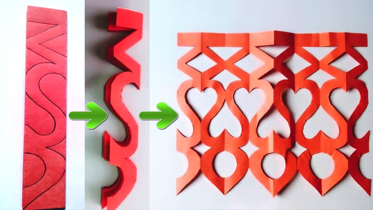 Easy Paper Cutting Craft Design Youtube