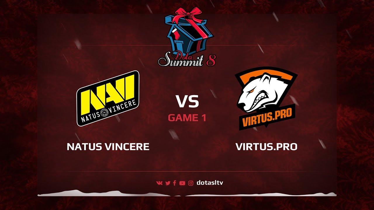 Natus Vincere против Virtus.pro, Первая карта, Квалификация на Dota Summit 8