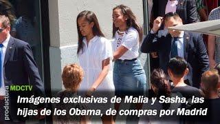 Visítanos en http://www.mdctv.comlas hijas de barack y michelle obama, malia sasha, han salido rebajas por gran vía la mañana este jueves,mientras...