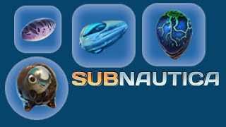 Subnautica - all creature egg hatching animation