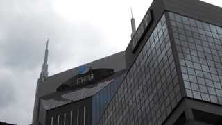 at&t and CMT buildings in Downtown Nashville Tennessee
