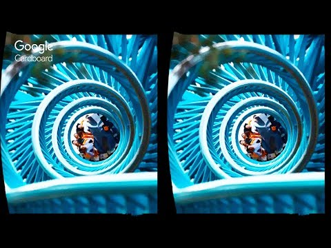 3D ROLLER COASTER - TOP15 VR  | 3D Side By Side SBS Google Cardboard VR Box Gear Oculus Rift