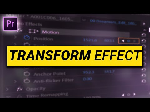 Creating EFFECTS with Premiere Pro