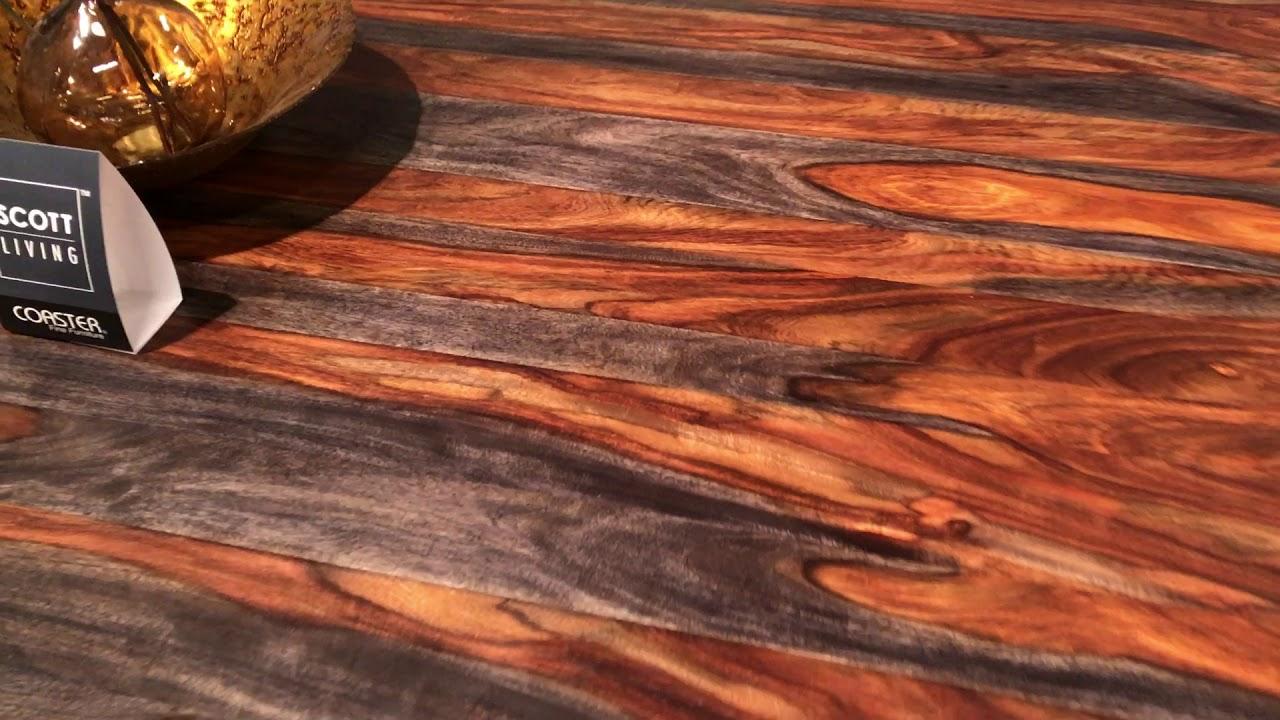 Scott Living Binghampton Solid Grey Sheesham Wood Dining Set