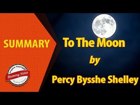 To The Moon Summary By Percy Bysshe Shelley
