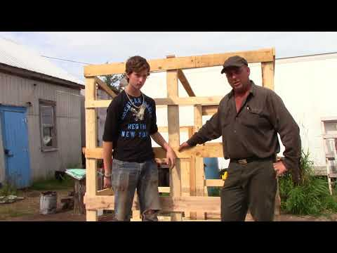 How to build a ground blind (on the cheap).