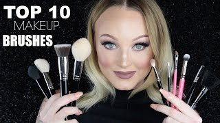 My Current TOP 10 Makeup Brushes ♡ Mac, Zoeva, Sigma & Elf!