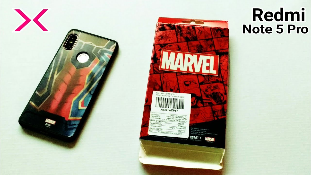 cheap for discount 61143 dc1b6 Redmi Note 5 PRO | ORIGINAL MTT COVER | MTT BACK COVERS | REDMI NOTE 5 PRO  BACK COVER | AVENGERS