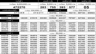 ใบตรวจหวย 1/4/64 เรียงเบอร์งวดล่าสุด 1 เมษายน 2564