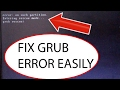 "How To FIX ""GRUB RESCUE ERROR"" with LINUX on any COMPUTER / PC / LAPTOP (EASY METHOD)"