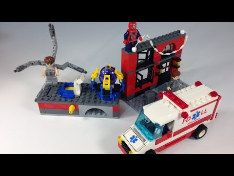 Lego 4857 spiderman 2 doc ock 39 s fusion lab from 2004 marvel comics youtube - Lego spiderman 2 ...