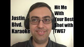 Justin Melo Sings:  Hit Me With Your Best Shot with TWG7