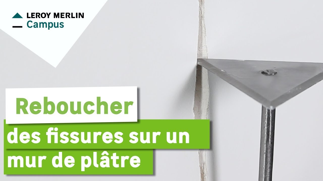 Comment reboucher des fissures sur un mur en pl tre for Comment carreler un mur