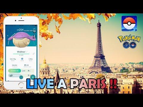 (Partie 2) LIVE CHASSE AU SHINY A PARIS AVEC CARANILLE - POKEMON GO
