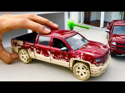 Unboxing of Mini Chevrolet Silverado 2018 Diecast Model | Ford Raptor | Off-Roading | Chevy Mall