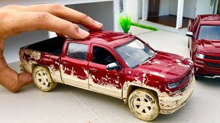 Unboxing of Mini Chevrolet Silverado 2018 Diecast Model | Ford Raptor | Pickup Trucks | Chevy Mall