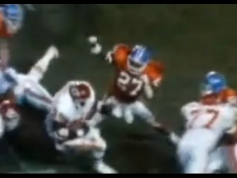 Steve Atwater Knock out Christian Okoye clean HD