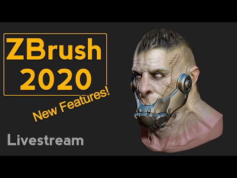Livestream - ZBrush 2020 NEW FEATURES!