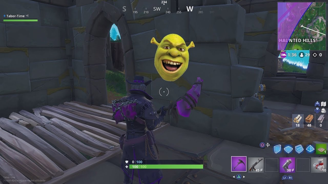 So There S A Shrek Face Easter Egg In Haunted Hills Youtube
