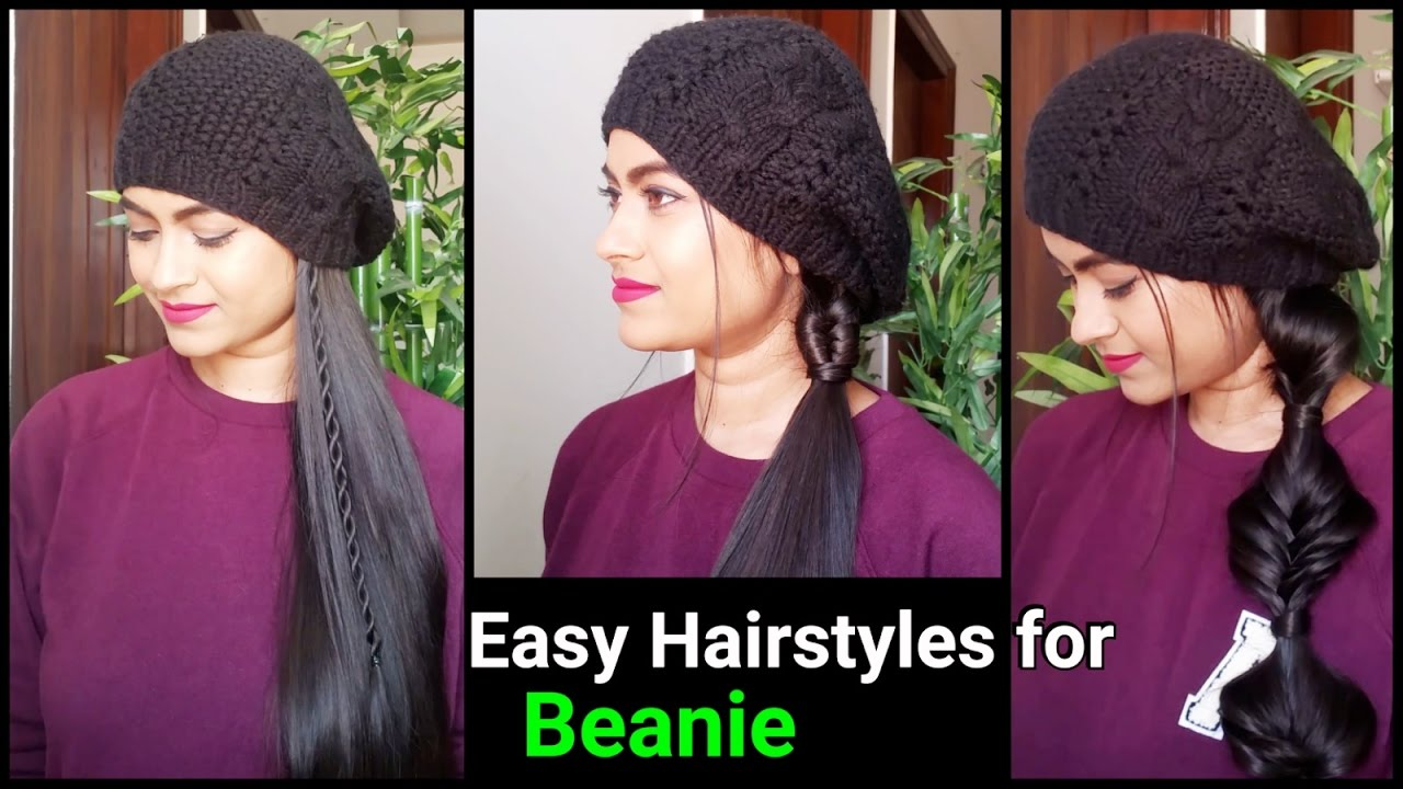 11 Quick&Easy Hairstyles for long hair//beanie hairstyles for medium to long  hair// indian hairstyles