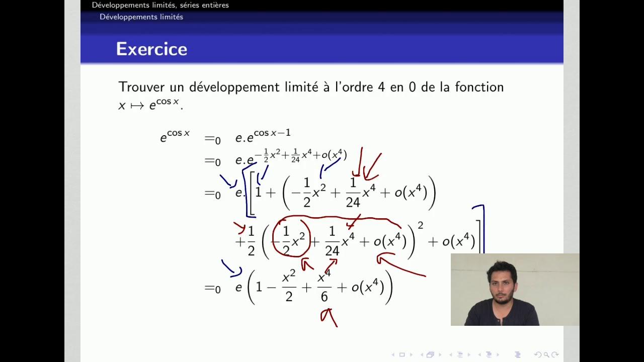 Developpements Limites 10 15 Exercices Dl D Une Composition De Fonctions Youtube