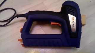 Видеообзор электрического степлера dexter