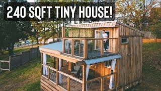 Tiny House w/ *secret* Roof Top Deck! | Touring The Little River Tiny House!