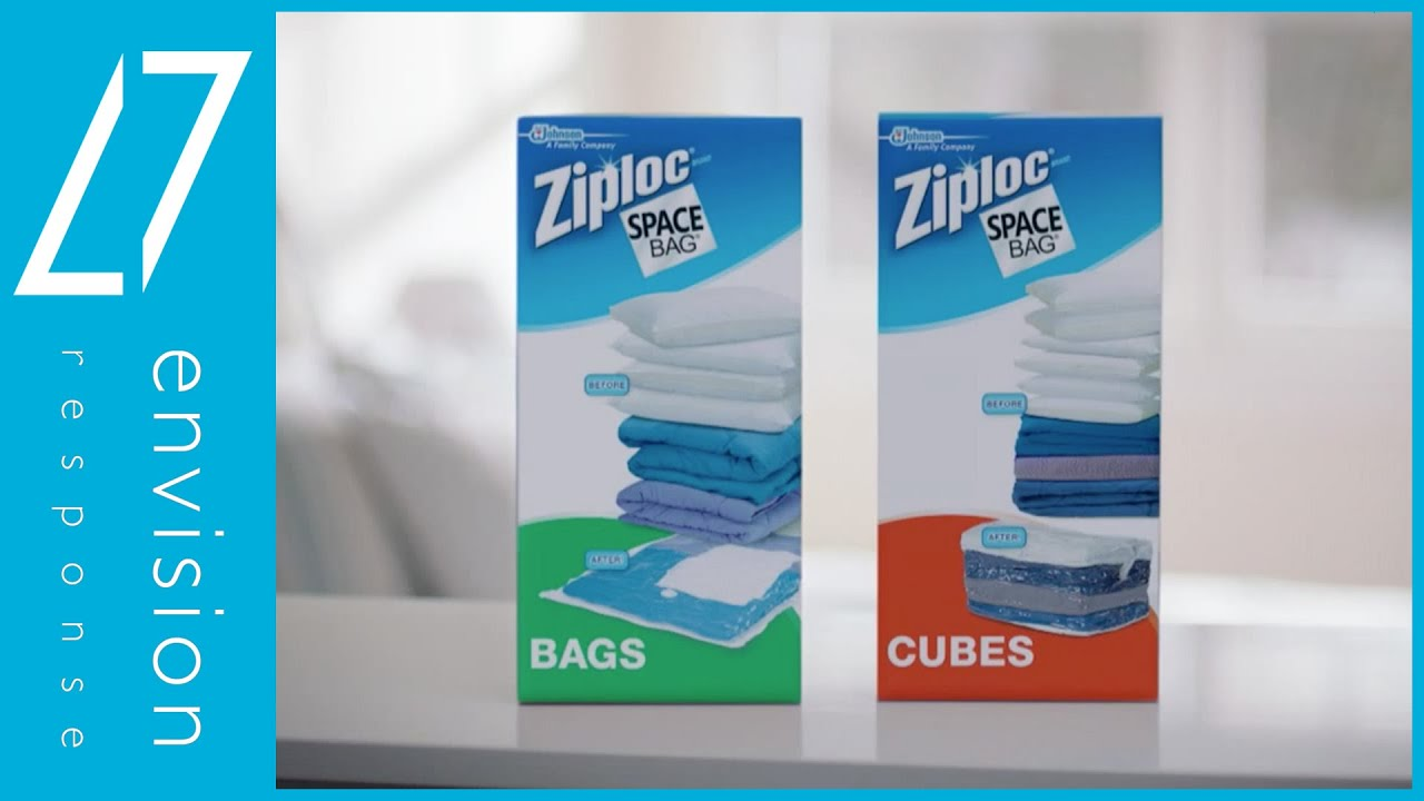 Ziploc® Space Bag Blue Tote - 120 Second Spot - Envision ...