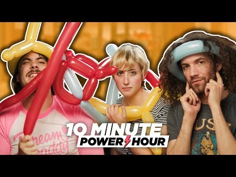 Making Balloon Animals (ft. Leighton) - 10 Minute Power Hour