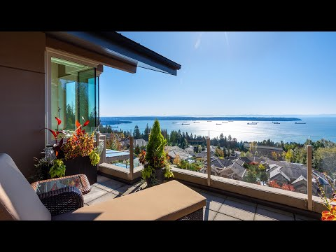 Spectacular Penthouse with Stunning Ocean and City Views | West Vancouver Home Tour 2020