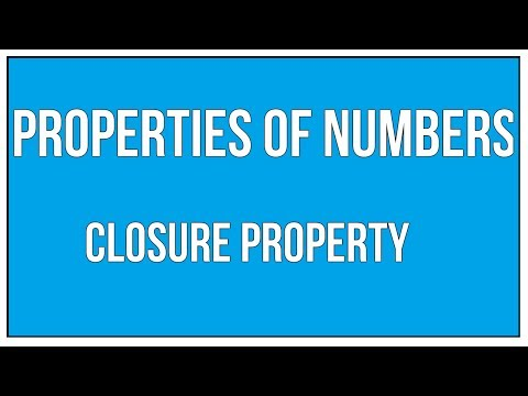 properties Of Numbers - Closure Property / Maths Arithmetic