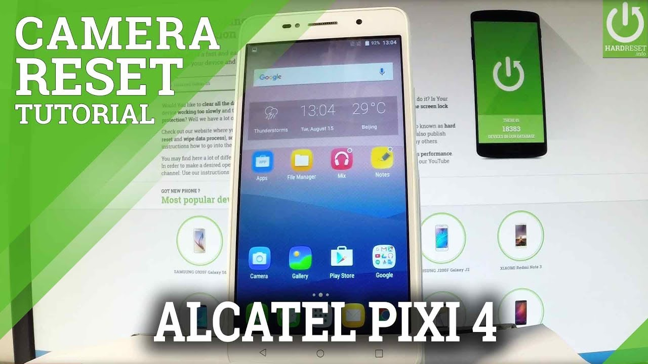 Alcatel Pixi 4 (7) Camera Settings Videos - Waoweo