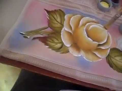 Como pintar rosas youtube - Como pintar sobre tela ...