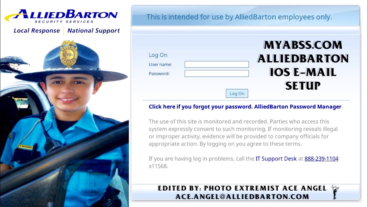 AlliedBarton IOS IPhone Email Setup Guide With Ramona The Robotic