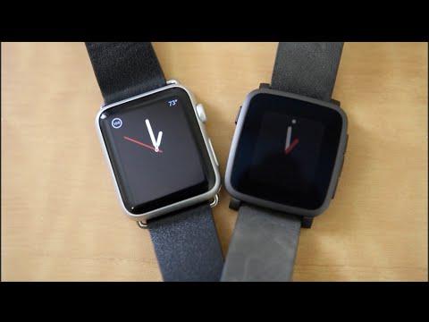 Pebble Time Steel vs Apple Watch!