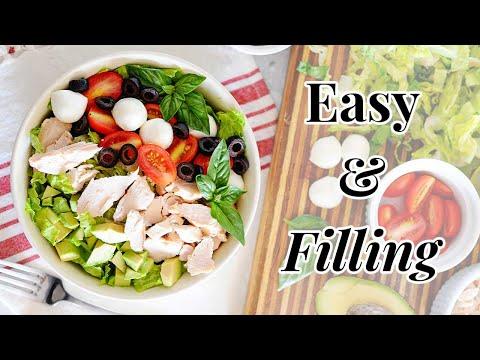 Chicken Caprese Salad with Homemade Balsamic Vinaigrette