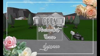 ROBLOX | Bloxburg: Grey Minimalist House + Giveaway Results