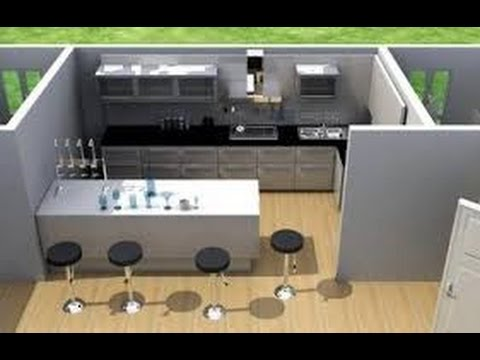 Planos de casas peque as con medidas en metros en 3d youtube for Planos para casas modernas pequenas