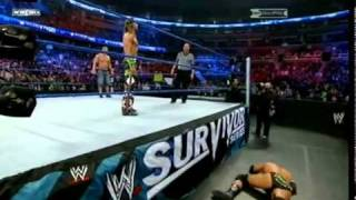 Shawn Michaels Sweet Chin Music To Triple H on Survivor Series 2009