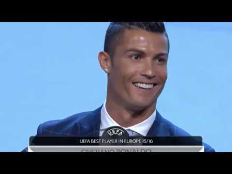 CRISTIANO RONALDO |  winner of the UEFA Best Player in Europe Award 2015/16