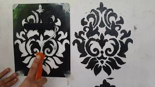 DIY: stencil making at home ll wall painting ideas.using old x-ray or files